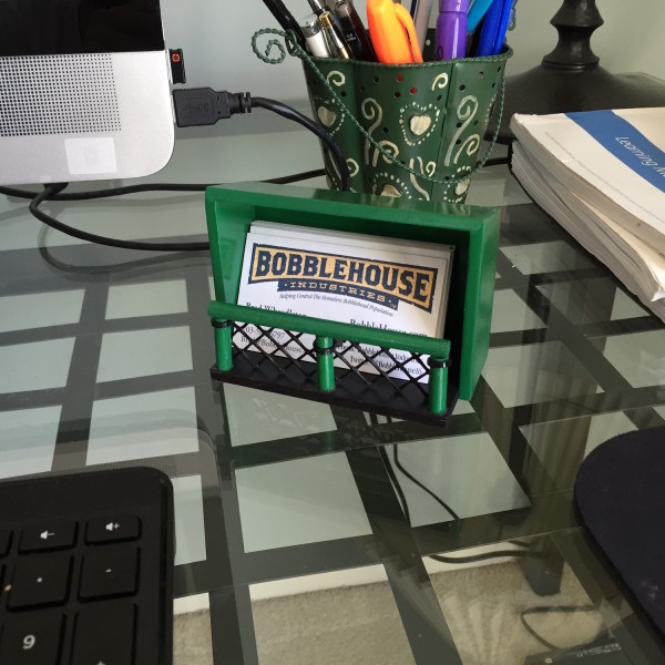 BobbleCard Holders fit on all desks and tables!